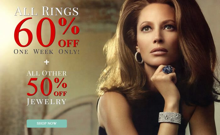 One Week Only - All Rings 60% OFF + All Other Jewelry 50% OFF