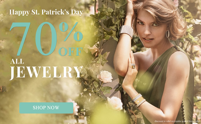 St. Patrick's Day SALE - All Jewelry 70% OFF