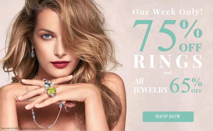 All Rings 75% OFF and more...