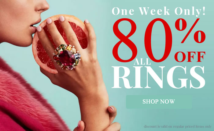 One Week Only - All Rings 80% OFF