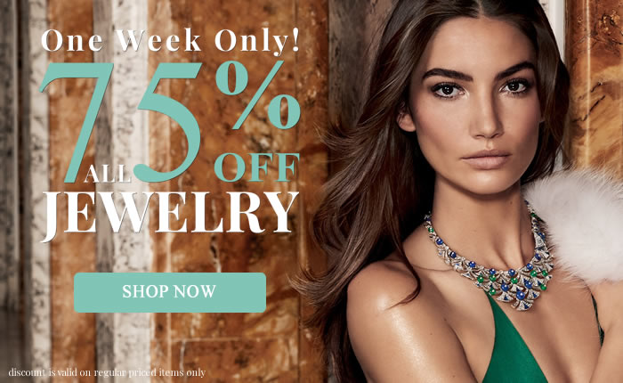 One Week Only! All Jewelry 75% OFF