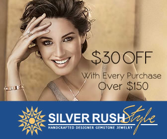 $30 OFF with Every Purchase at www.SilverRushStyle.com