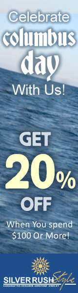 Celebrate Columbus Day - Get 20% OFF on all Jewelry