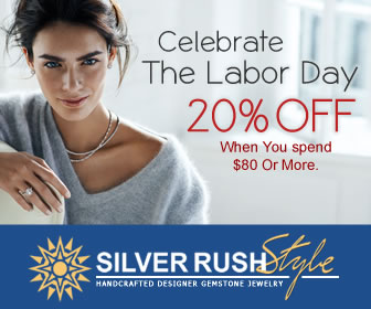 Celebrate The Labor Day - Get 20% OFF on ALL Jewelry at www.SilverRushStyle.com
