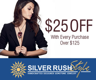 Get $25 OFF with Every Purchase over $125 at www.SilverRushStyle.com