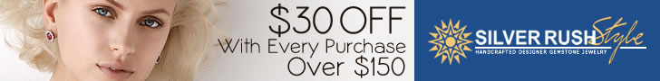 $30 OFF with Every Purchase Over $150 at www.SilverRushStyle.com