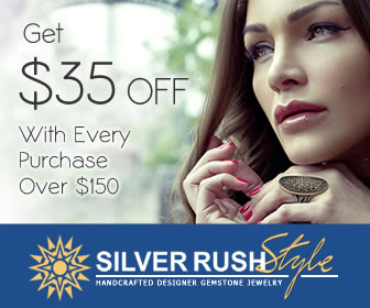 Get $35 OFF With Every Purchase Over $150 at www.SilverRushStyle.com