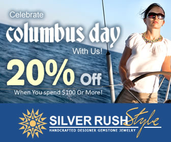 Columbus Week SALE - 20% OFF on All Jewelry at www.SilverRushStyle.com
