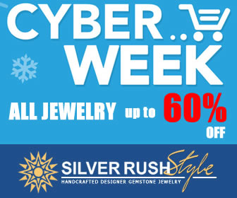 Cyber Week SALE - all Jewelry up to 60% OFF at www.SilverRushStyle.com