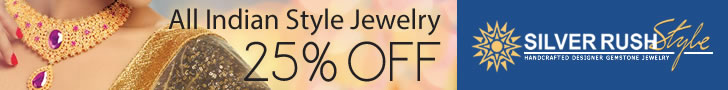 All Indian Style Jewelry 25% OFF at www.SilverRushStyle.com