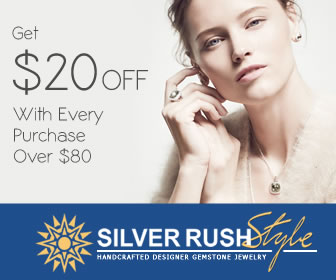 Get $20 OFF with Purchase Over $80 at www.SilverRushStyle.com