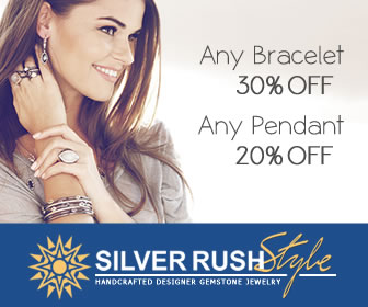 All Bracelets 30% OFF + All Pendants 20% OFF at www.SilverRushStyle.com