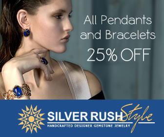 All Pendants & Bracelets 25% OFF at www.SilverRushStyle.com