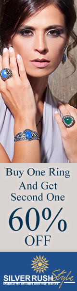 Buy One Ring and Get One 60% OFF on ALL Jewelry at www.SilverRushStyle.com