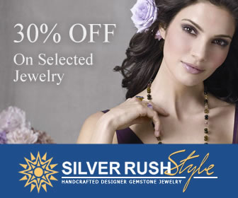 Great Deal! 30% OFF on Selected Jewelry at www.SilverRushStyle.com
