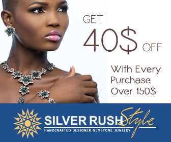 Get $40 OFF with Every Purchase Over $150 at www.SilverRushStyle.com