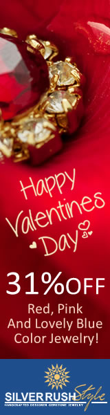 Valentine's Day SALE - over 4788 Unique Jewelry Designs 31% OFF at www.SilverRushStyle.com