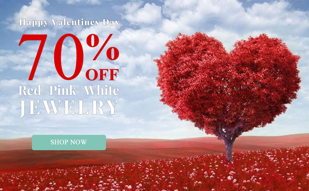 Happy Valentine's Day - Red, Pink & White Jewelry 70% OFF