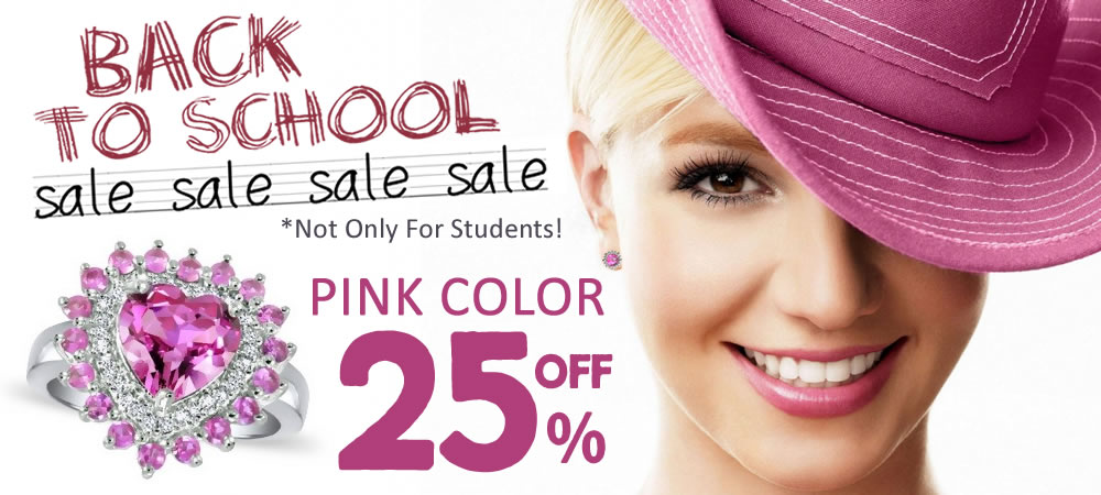 Back To School Sale! All Pink Color Jewelry 25% OFF