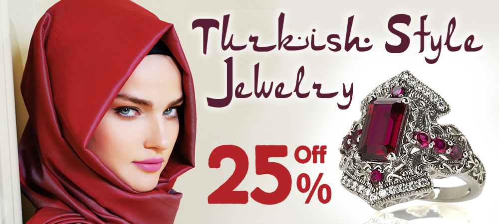 All Turkish Style Jewelry 25% OFF