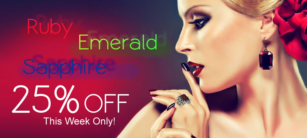 Ruby, Emerald & Sapphire 25% OFF