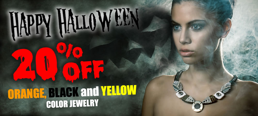 All Black, Orange and Yellow Color Jewelry 20% OFF
