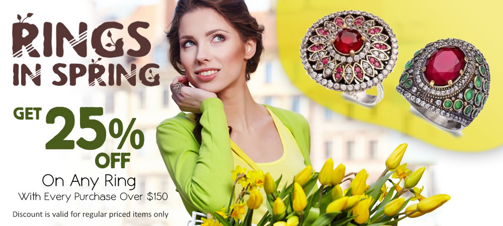 Ring In Spring! Get 25% OFF On Any Ring With Every Purchase Over $150