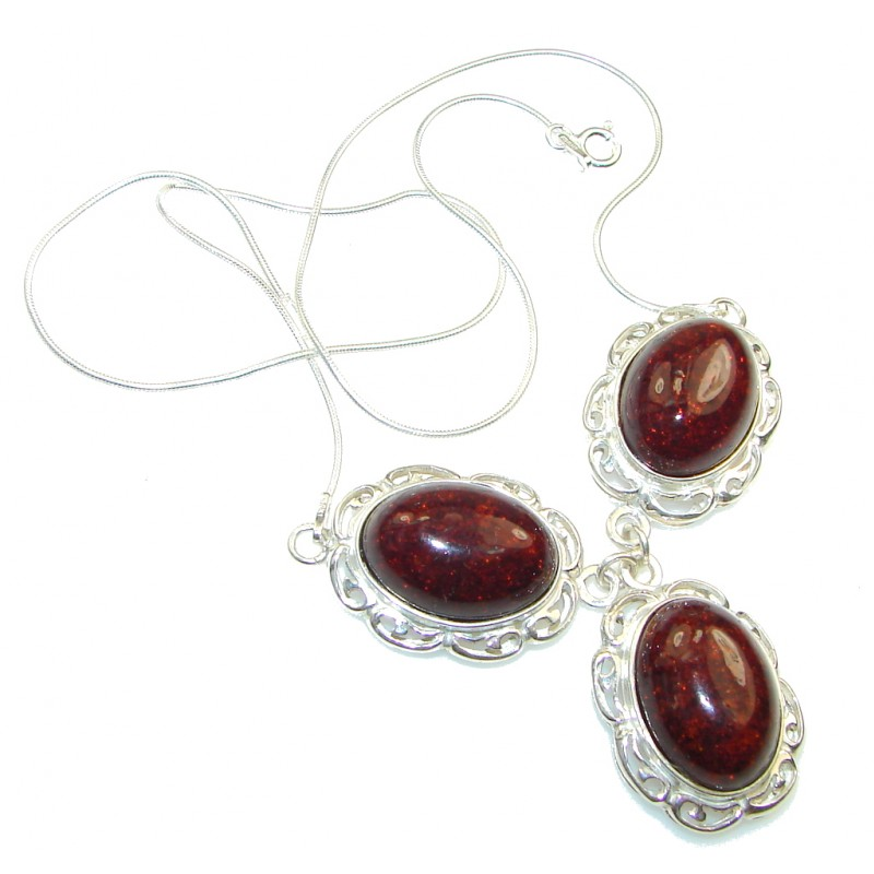 Delicate Polish Amber Sterling Silver Necklace 13 90g 91 25 Best Price At