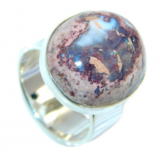 Genuine Mexican Fire Opal Sterling Silver Ring size 8
