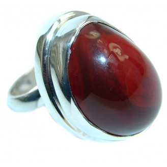 Genuine Mexican Fire Opal Sterling Silver Ring size adjustable