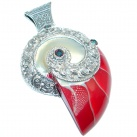 Rich Design Massive 72.8 grams Genuine Shell Sterling Silver handmade Pendant