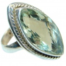 Supernova Green Amethyst Sterling Silver ring; s. 8