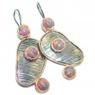 Exclusive Japanese Fire Opal Rose Gold Rhodium plated over Sterling Silver earrings