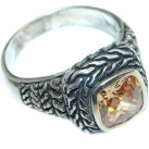 Ultra Fancy Cubic Zirconia Sterling Silver Coctail ring s. 9