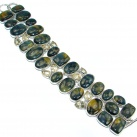 Chunky Silky on fractures Pietersite Citrine Sterling Silver handcrafted Bracelet
