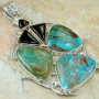Born To Be Wild Turquoise Sterling Silver Pendant