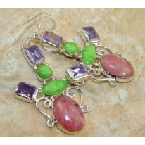 Love Princess Rhodochrosite Sterling Silver earrings
