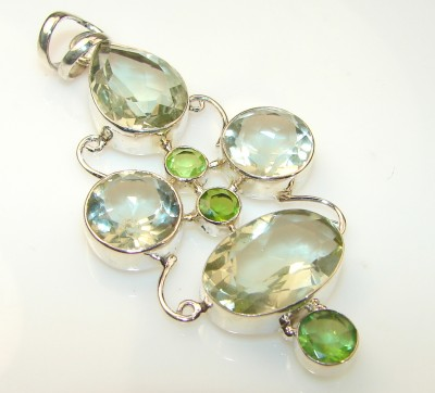 Magic Green Amethyst Sterling Silver pendant