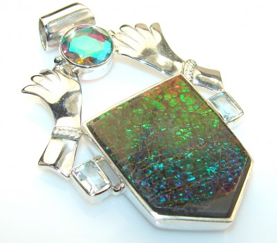 Summer Fields Ammolite Sterling Silver Pendant