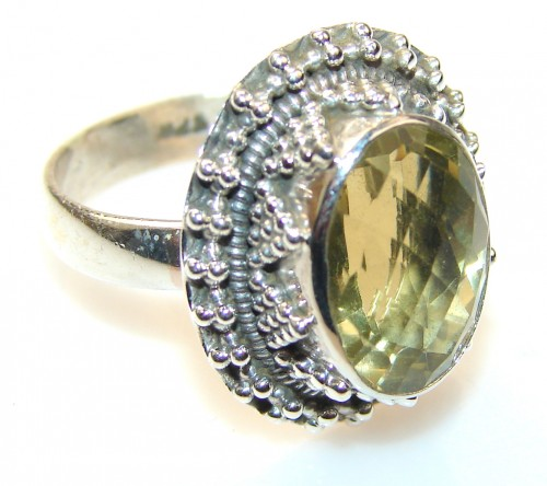 Natural Citrine Sterling Silver ring s. 8 1/2