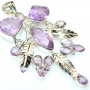 Delicate Amethyst Sterling Silver Pendant