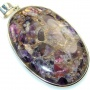 Amazing Crushed Purple Amethyst Sterling Silver Pendant