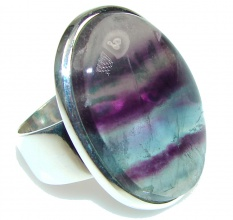 Awesome!! Purple Fluorite Sterling Silver Ring s. 7 1/4