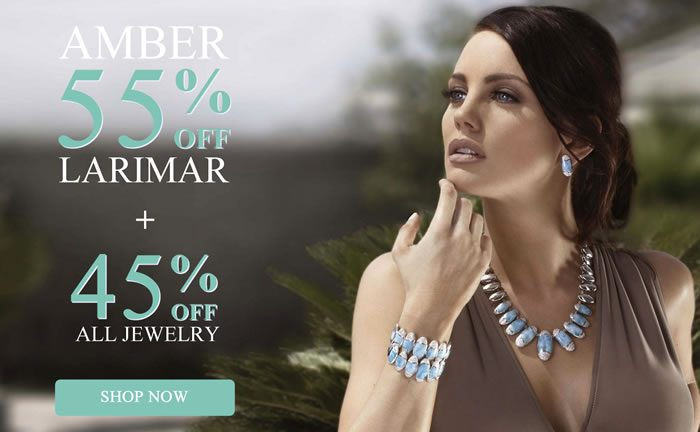 All Larimar & Amber 55% OFF + All Other Jewelry 45% OFF