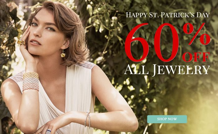 Happy St. Patrick's Day - All Jewelry 60% OFF