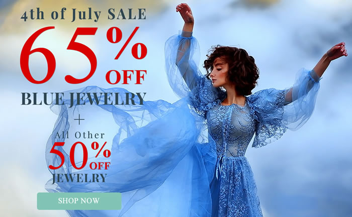 Happy 4th Of July - All Blue Jewelry 65% OFF & All Jewelry 50% OFF