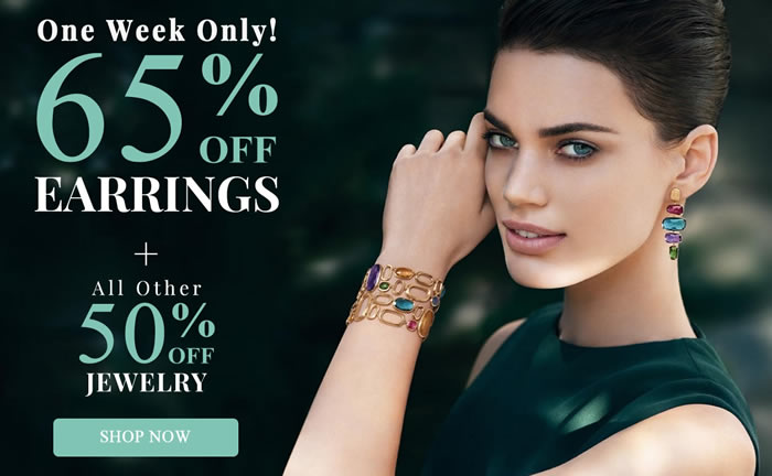 One Week Only! All EARRINGS 65% OFF + more...