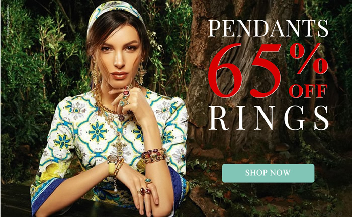All Pendants & Rings 60% OFF