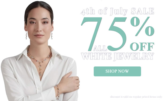 4th of July - White, Blue, Red Color Jewelry 75% OFF