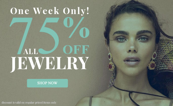 All Jewelry 75% OFF